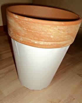 Pot bisa di cat Putih atau di tempel dengan Kertas HVS