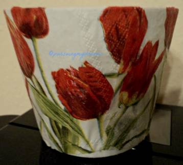Inilah Hasil Karya Pertama saya menghias pot Bunga