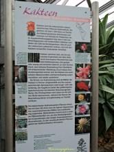 Papan Informasi Mengenai Kaktus dan Sukkulen