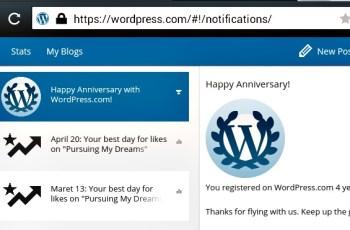 Ucapan Selamat 4 Tahun Bersama WordPress