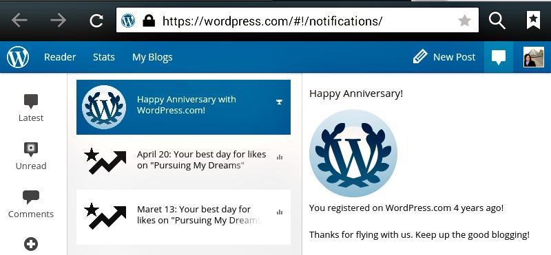 4 Tahun Bersama WordPress