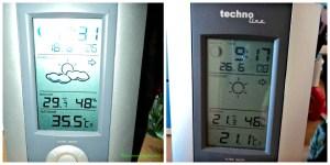 Kiri Suhu 18 Juni 2013 panas banget hampir 36 derajat C. Seminggu kemudian.. Kanan Asyikk ademm 26 Juni 2013