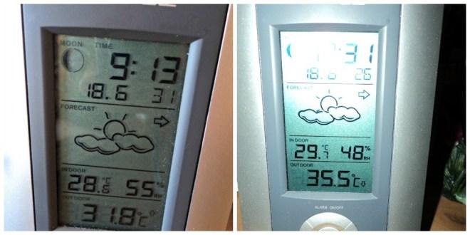 Foto Kiri Baru jam 9 pagi suhu diluar sudah hampir 32 derajat C, panass banget