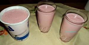 Strawberry Milkshake made with Yogurt
