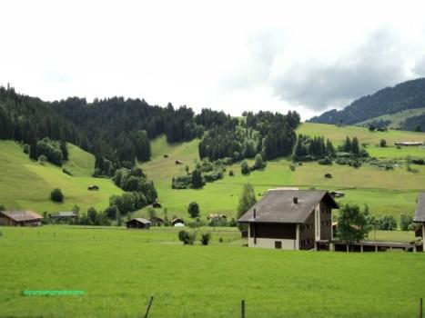 Beginilah Pemandangan depan Rumah kami di Swiss ketika Musim Panas
