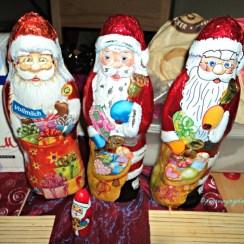 Coklat-coklat Natal bentuk Santaklaus