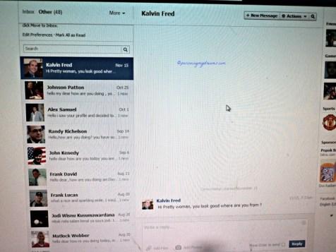 Ternyata di FB ada other inbox, isinya dari orang-orang tidak dikenal