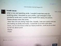 Contoh gombalan pesan atau email si love scammer di sosial Media