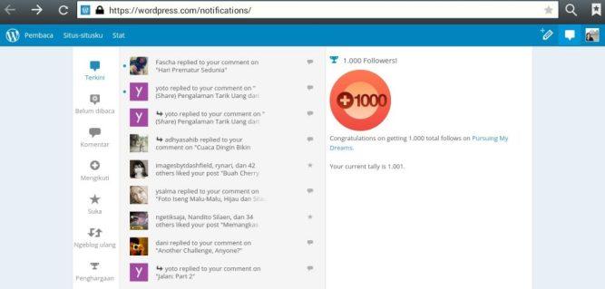 1000 Follower Blog Pursuingmydream