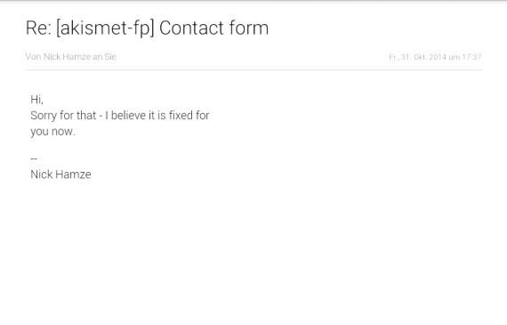 Senangnya akhirnya id wp saya dibebaskan dari penjara kotak spam