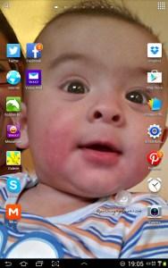 My Sweet Boy Benjamin as Background on my Tablet