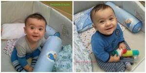Benjamin usia 6 bulan sudah mantap bisa duduk sendiri
