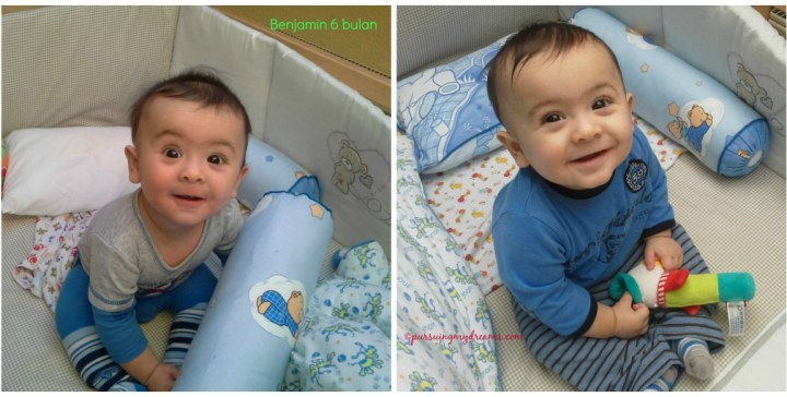 Perkembangan Benjamin Usia 6 ke 7 Bulan. Benjamin usia 6 bulan sudah mantap bisa duduk sendiri