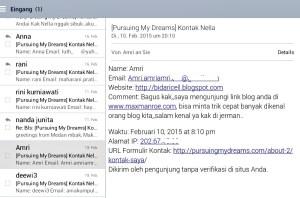 Email masuk nanya bagaiman supaya blog cepat terkenal