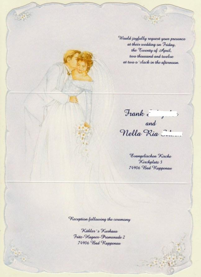 wedding card english. Undangan pernikahan bahasa inggris