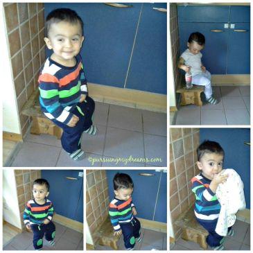Benjamin lagi suka sekali duduk dijongkokan