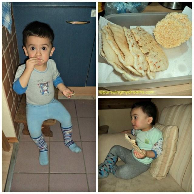 Benjamin suka sekali makan Kerupuk Indonesia. Makan kerupuk nih kaga bisa berhenti sangking enaknya hehe
