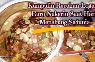 Kumpulin Uang logam nukerin saat Hari menabung sedunia di bulan Oktober. Münzen sammeln euro. Euro Coin collecting