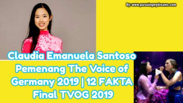 Claudia Emanuela Santoso Pemenang The Voice of Germany 2019