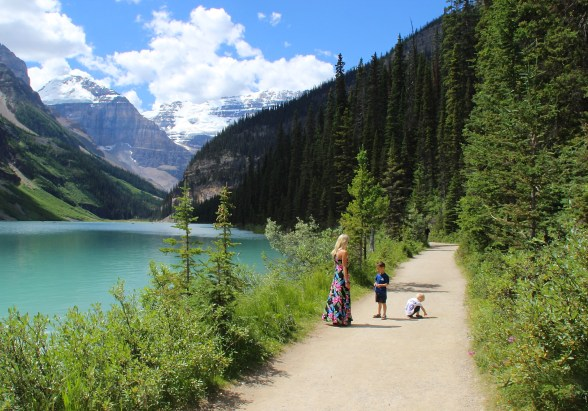 Lake Louise Canada family