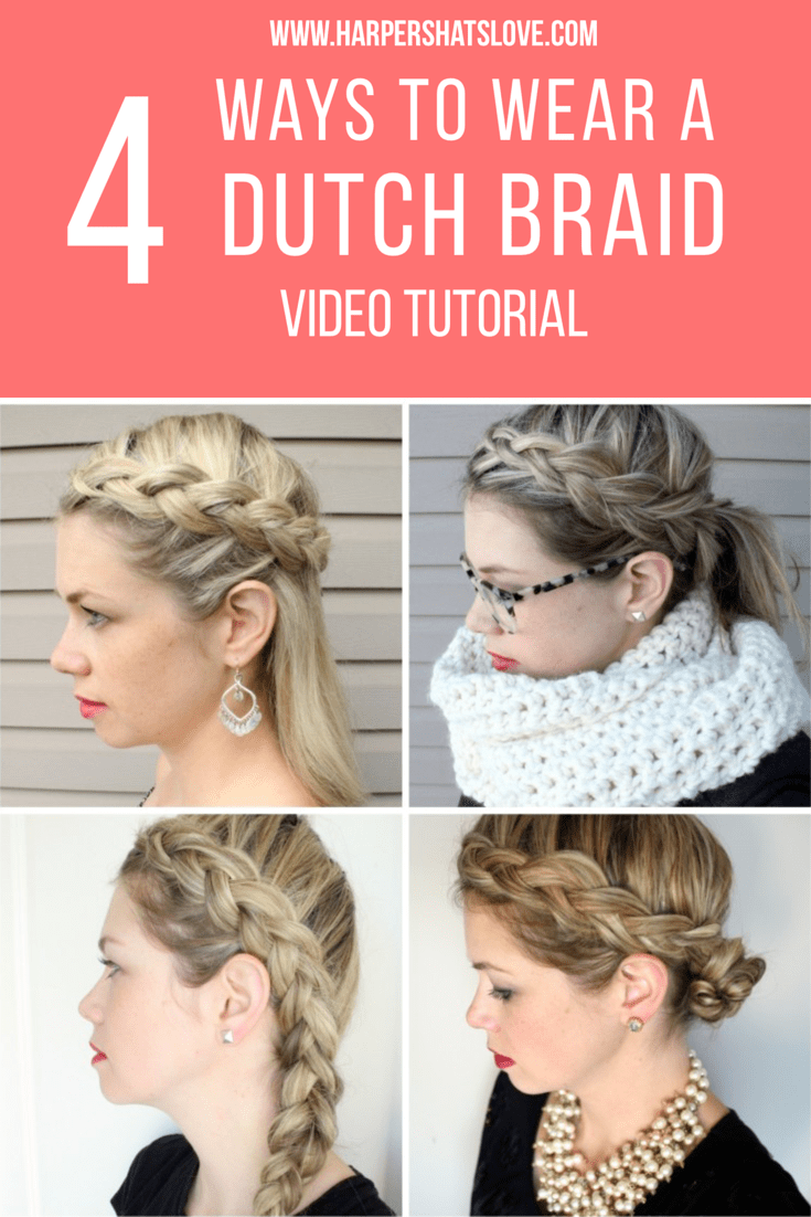So Today I'm Showing A New, Quick Tutorial On How To Create 4 Different  Styles With A Side Dutch French Braid
