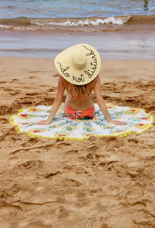 Beach Photo must, Do Not Disturb Sun Hat and Round Towel
