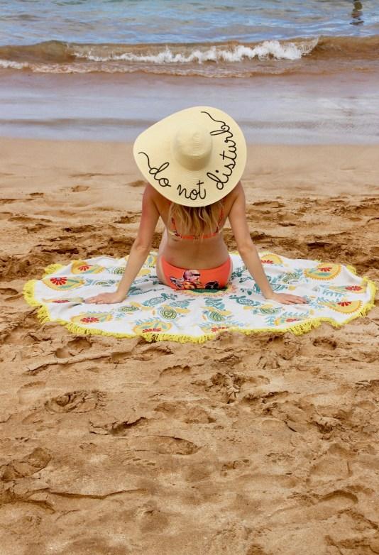 Beach Photo must, Do Not Disturb Sun Hat and Round Towel