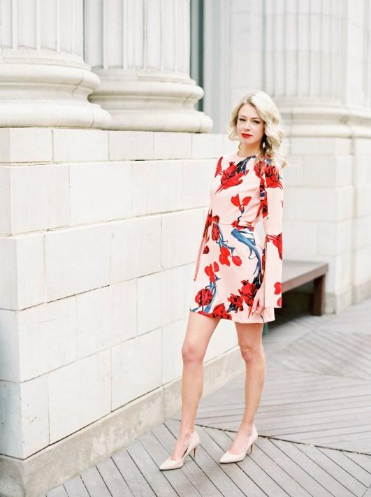 Split-sleeve blossom mini dress from TopShop - cocktail dress