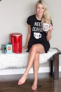 Mom Gift Guide for Christmas - coffee please! Keurig, mug, pjs