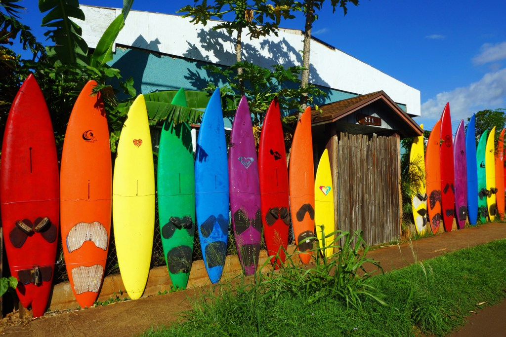 Maui Surfboard Fence in Paia - Instagram