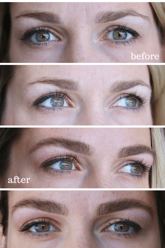 Eyebrow Tinting will change your life! No microblading here, just shaping your natural brows! See the full before and after!