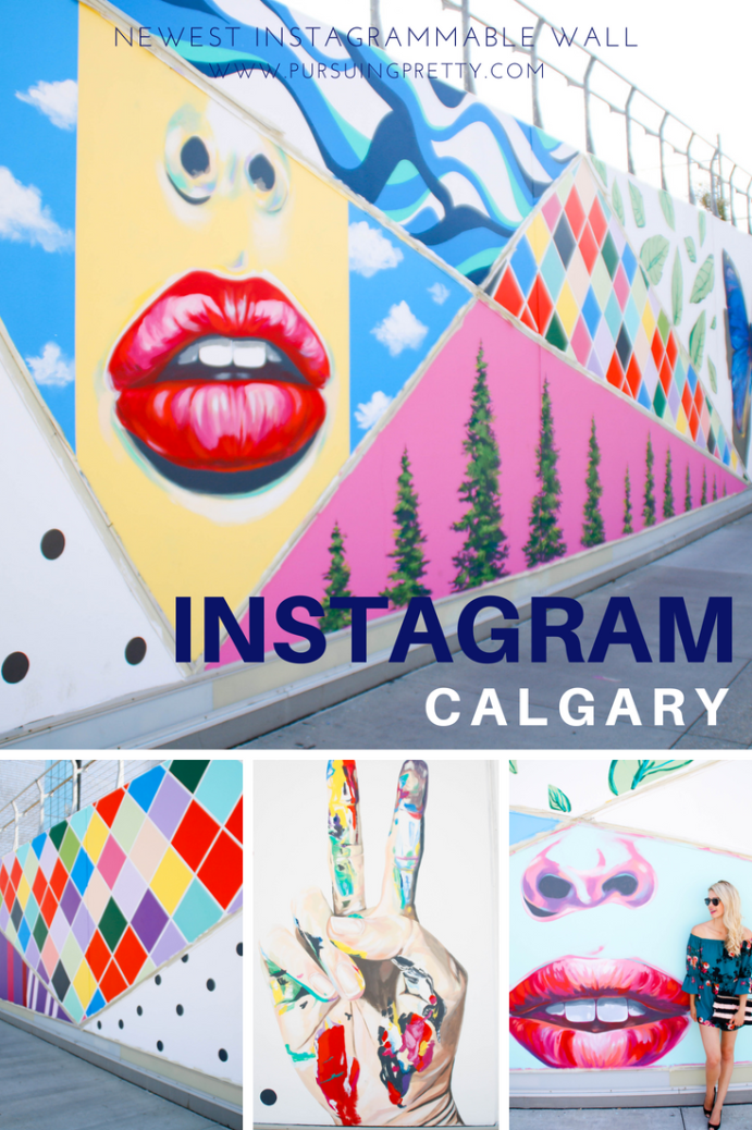 Newest Instagrammable Wall in Calgary, Alberta - travel to the Corridor of Connection