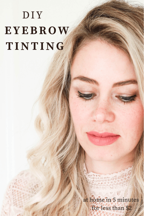 DIY Eyebrow Tinting! It takes 5 minutes and costs $2 per application! See how!