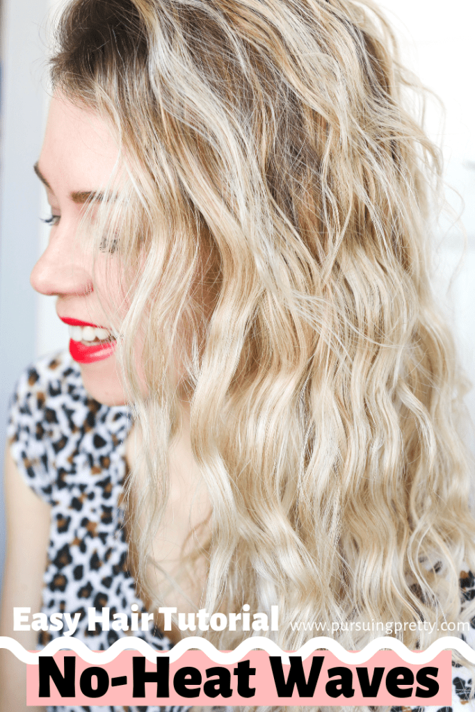 No Heat WAVES hair tutorial! Give your hair a break from damaging heat tools with this simple DIY!