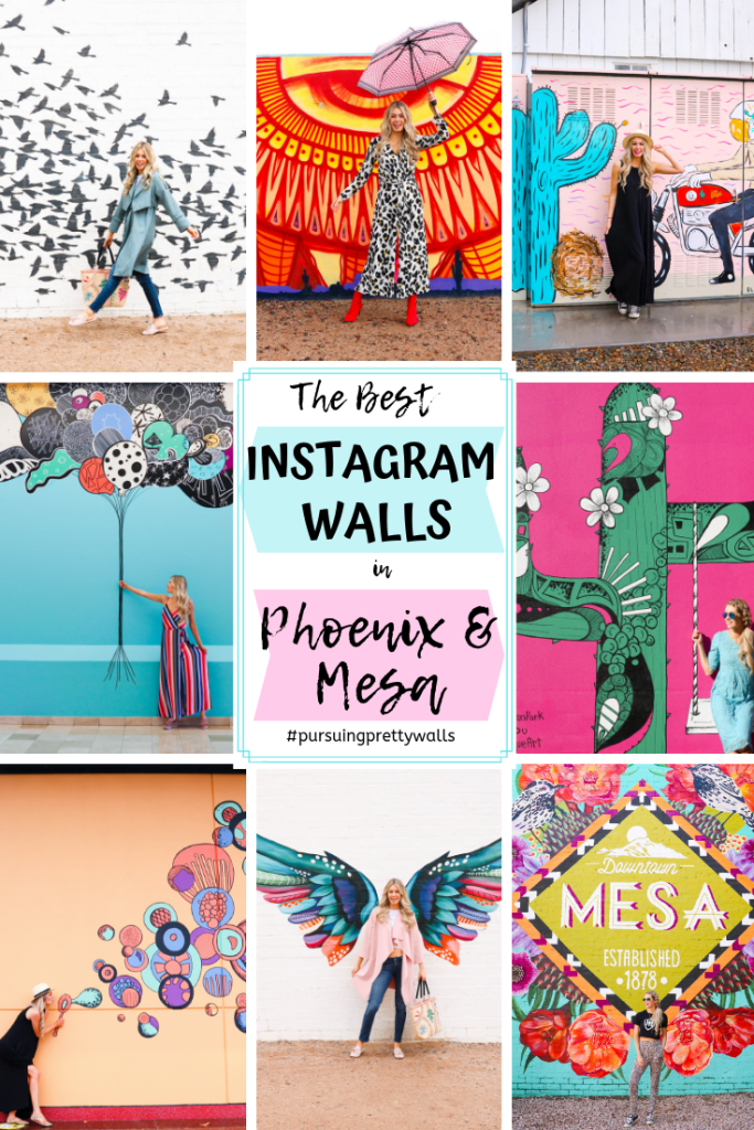 The best Instagrammable Walls in Phoenix and Mesa, Arizona. Instagram-worthy locations and outfits. Travel photography that's Instagram Worthy!
