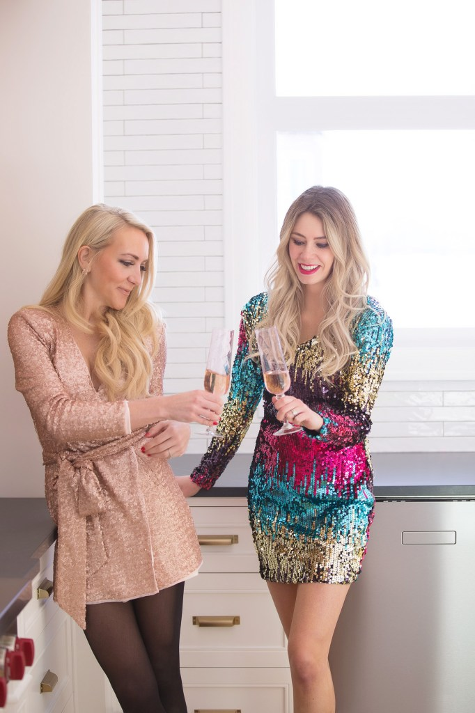 Prosecco Party girls night! The prettiest sequin dress for only $35!