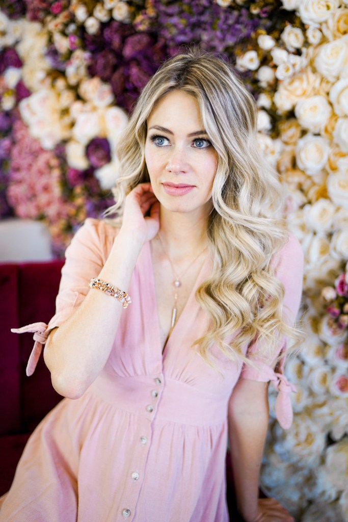 Hillberg & Berk jewellery with Pursuing Pretty - summer collection, desserts and a flower wall