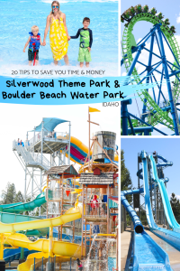 20 tips to save you time and money at Silverwood Theme Park and Boulder Beach Water Park in Idaho! Family travel with kids tips. #travel #familytravel #budgettravel
