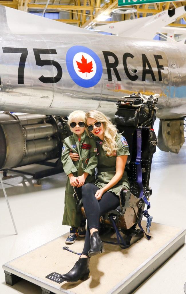 Mother and children Top Gun Costume - flight suits #halloween