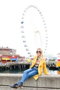 Seattle Wharf - ferris wheel photo opportunity