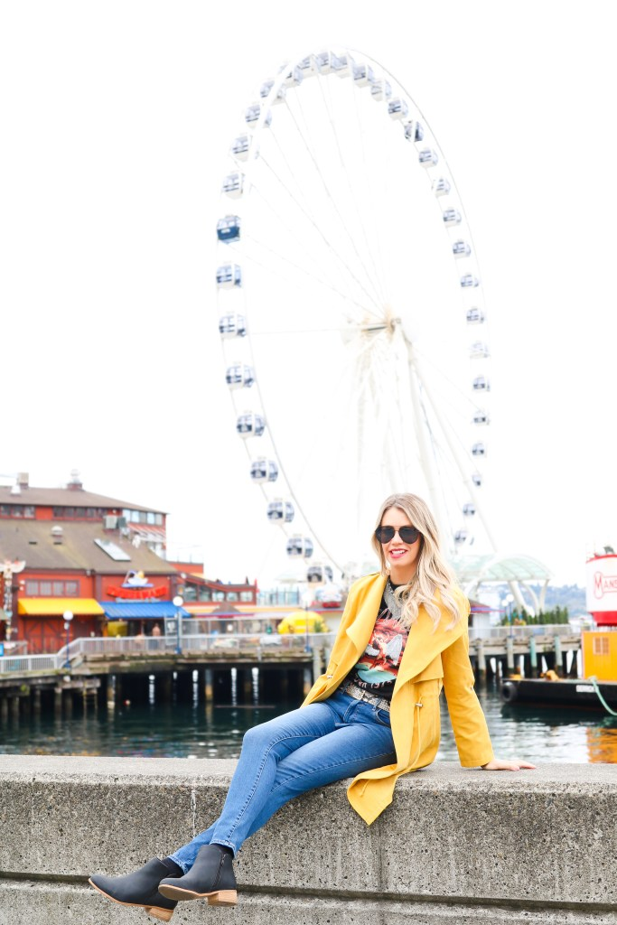 Seattle Wharf - ferris wheel photo opportunity