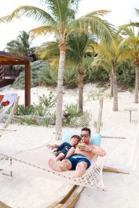 Cancun, Mexico hotel for families - beach hammock