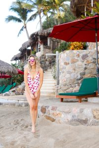 Cupshe one-piece flamingo bathing suit
