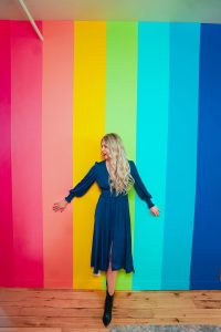 Rainbow wall in Calgary- Instagrammable walls- Instagram photography studio in YYC - great photos in Calgary, Alberta