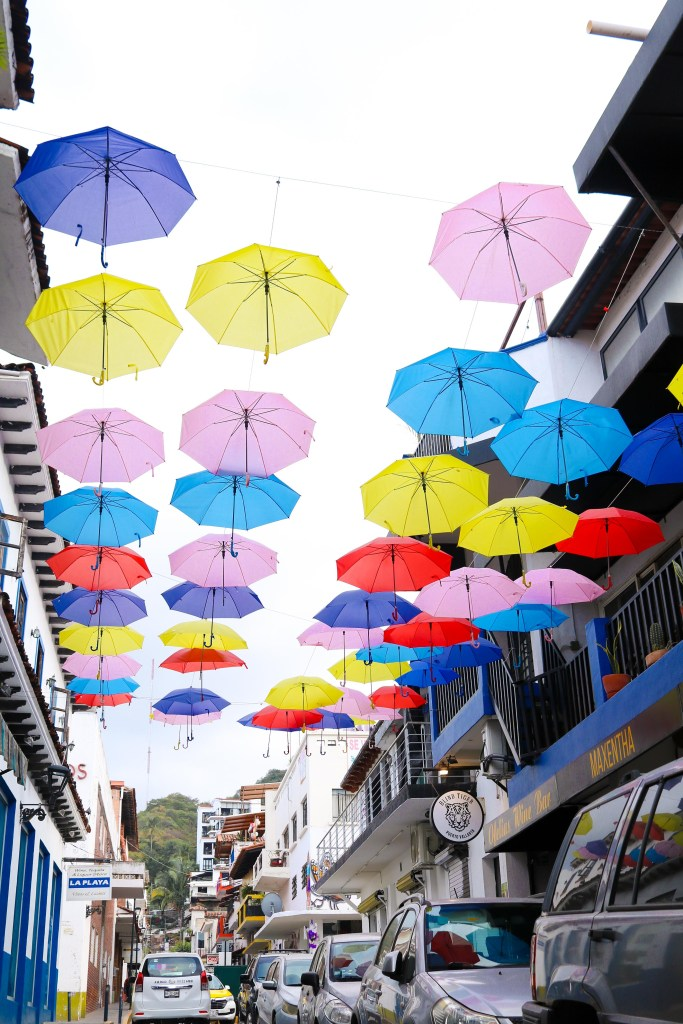 Umbrella Alley - Puerto Vallarta location - Instagram photography