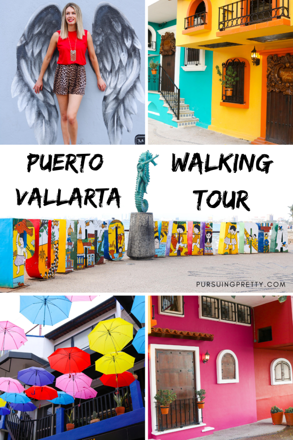 Puerto Vallarta Walking Tour with MAP! Instagram-worthy locations for the best photos on your trip to Mexico! #puertovallarta #mexico #travel #tour #wanderlust #tourist