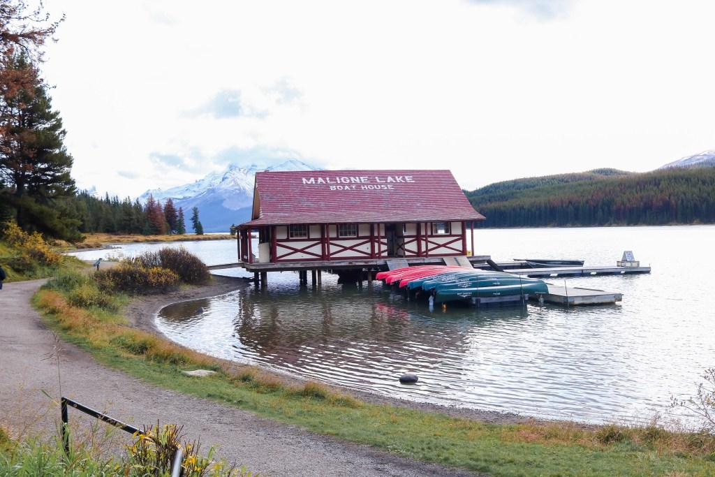 Maligne Lake boat house
