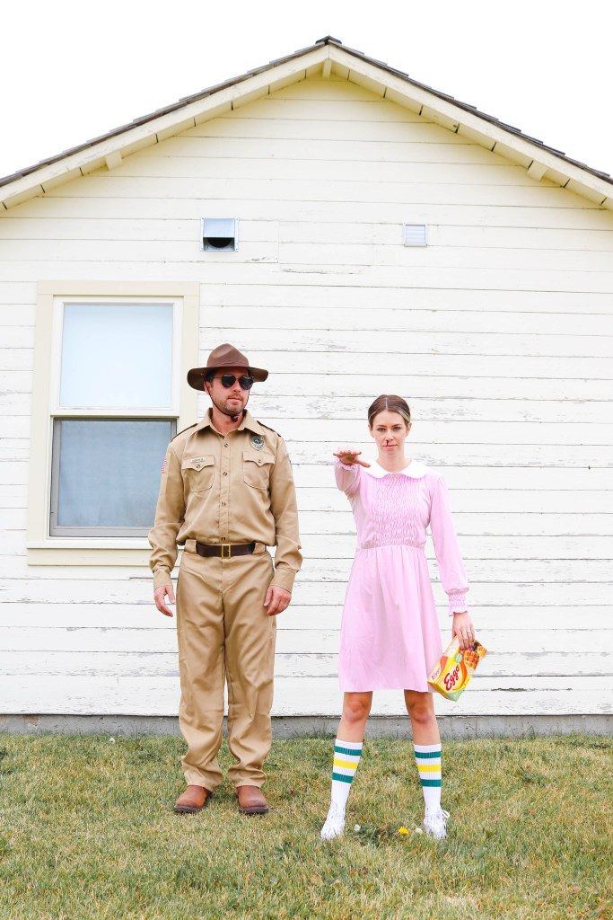 Couples Costume ideas - Eleven and Hopper from Stranger Things - costume ideas