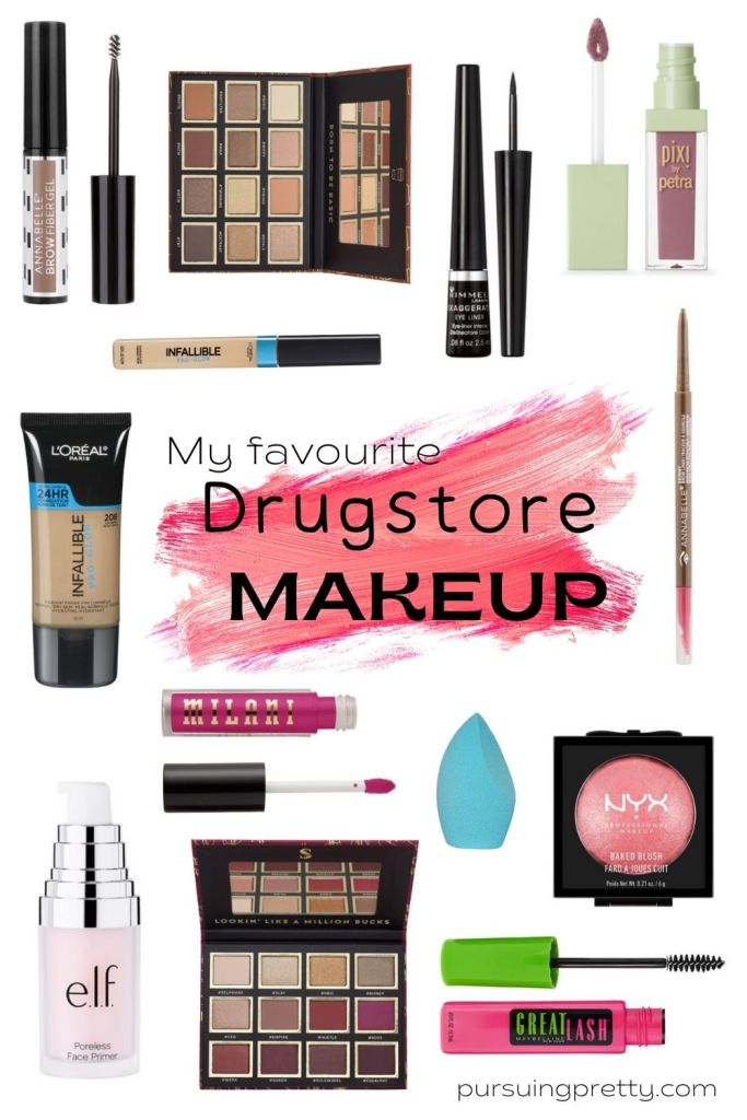 Beauty Blogger's favourite drug store makeup! Save money and look flawless! Best cheap makeup! #beauty #diy #meauo #makeuplook #drugstore