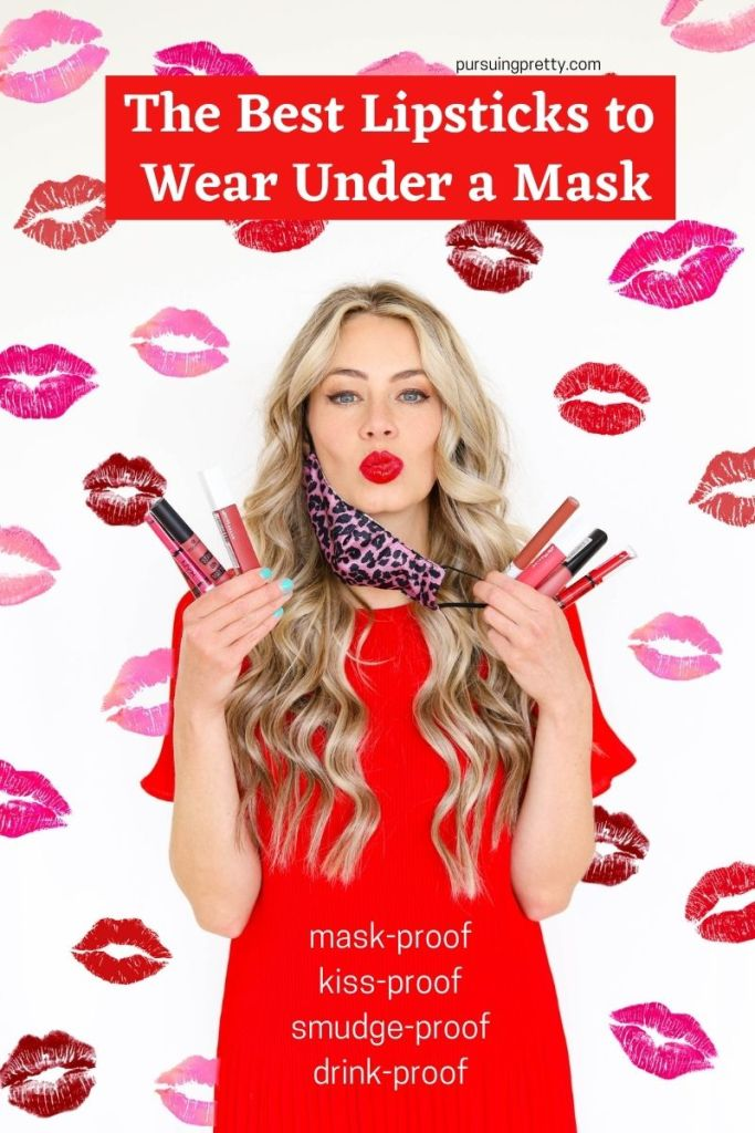 The Best Lipsticks to Wear Under a Mask - mask-proof, smudge-proof, kiss-proof, drink-proof liquid lip colours! Find out which brands made the list! #lipstick #lipsticks